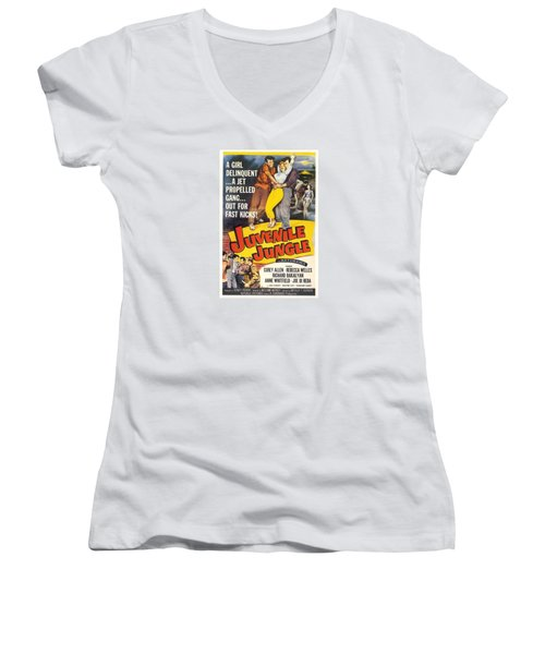 Juvenile Jungle Women's V-Neck T-Shirt