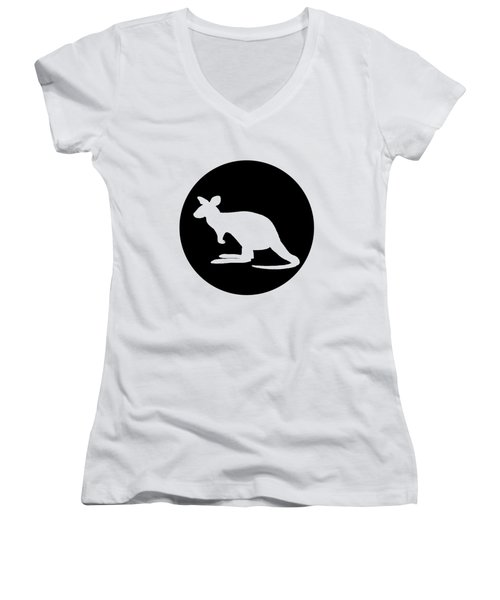 Kangaroo  Women's V-Neck T-Shirt