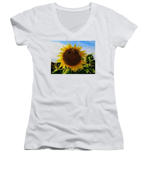 Kansas Sunflower Women's V-Neck T-Shirt