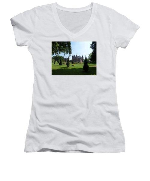 Kasteel De Haar In Haarzuilens Women's V-Neck T-Shirt