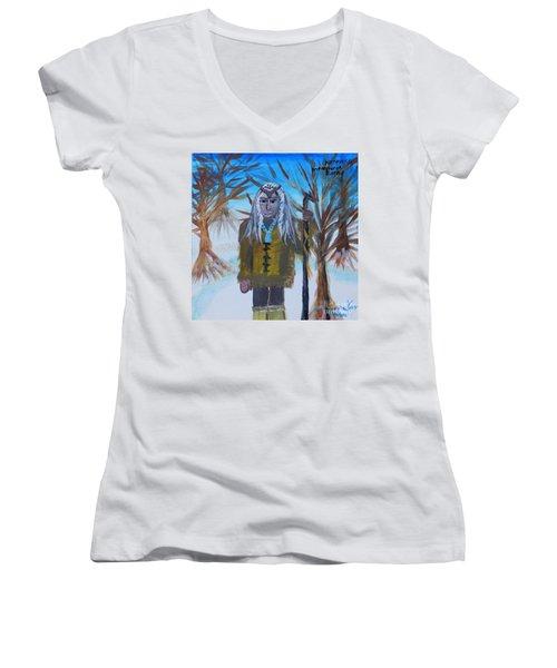 Katanka Protector Of Buffalo Women's V-Neck T-Shirt