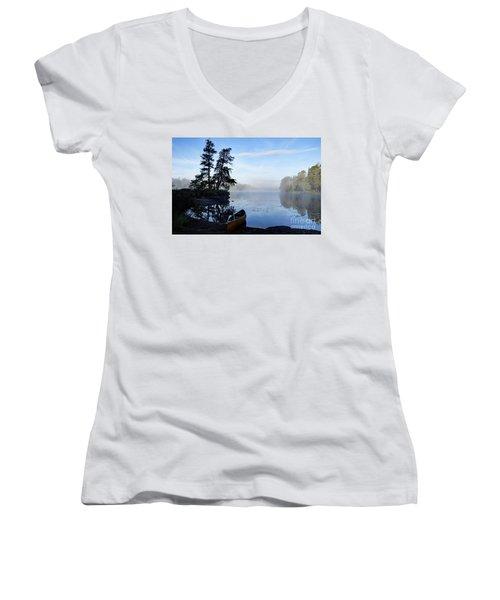 Kawishiwi Morning Women's V-Neck T-Shirt