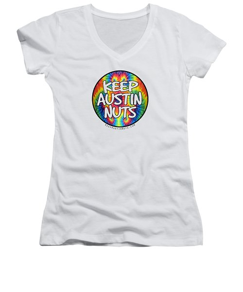 Keep Austin Nuts Women's V-Neck (Athletic Fit)
