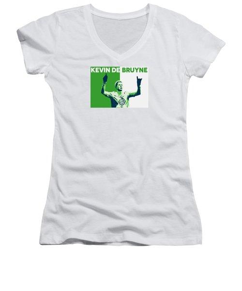 Kevin De Bruyne Women's V-Neck T-Shirt (Junior Cut)