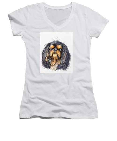 King Charles Spaniel Women's V-Neck T-Shirt