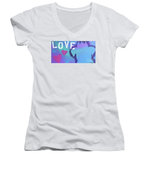 King Of My Heart Women's V-Neck T-Shirt (Junior Cut) by Melissa Goodrich