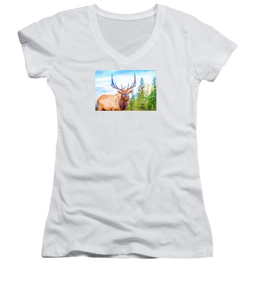 King Of The Forest Women's V-Neck (Athletic Fit)