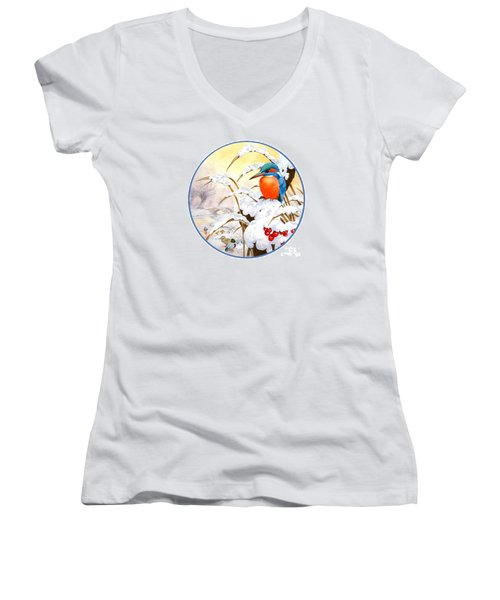 Kingfisher Plate Women's V-Neck (Athletic Fit)