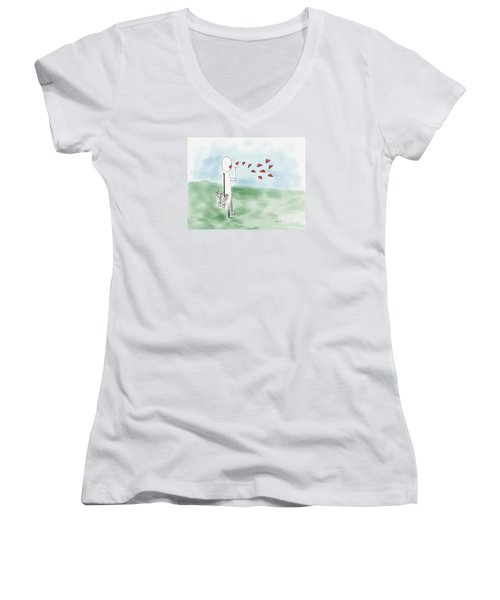 Kisses And Love   Women's V-Neck T-Shirt