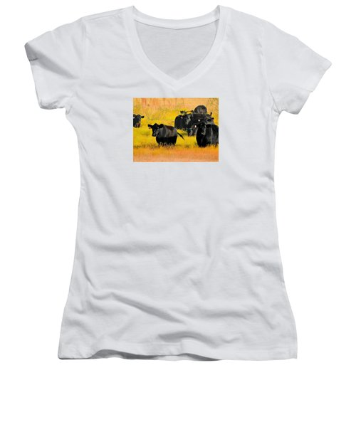 Knee High In Color Women's V-Neck T-Shirt