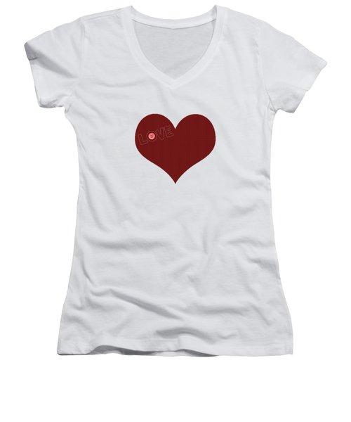 Knitted Heart.png Women's V-Neck T-Shirt (Junior Cut) by Anton Kalinichev