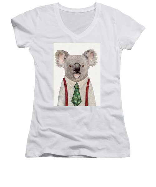 Koala Women's V-Neck T-Shirt (Junior Cut) by Animal Crew