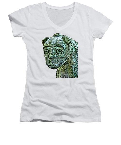 Komainu03 Women's V-Neck T-Shirt