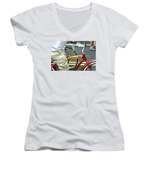 Kona Beer Bike Women's V-Neck T-Shirt