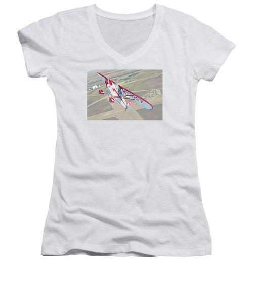 Krier Field Women's V-Neck T-Shirt