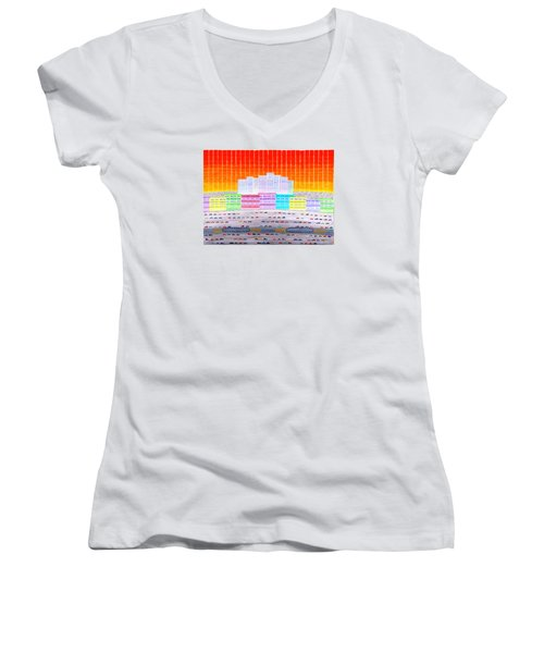 L.a. Cityscape Women's V-Neck T-Shirt
