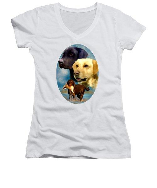 Labrador Retrievers Women's V-Neck T-Shirt
