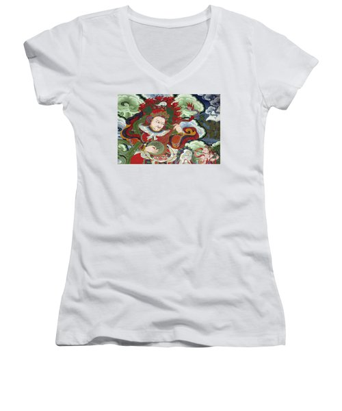 Ladakh_17-5 Women's V-Neck T-Shirt