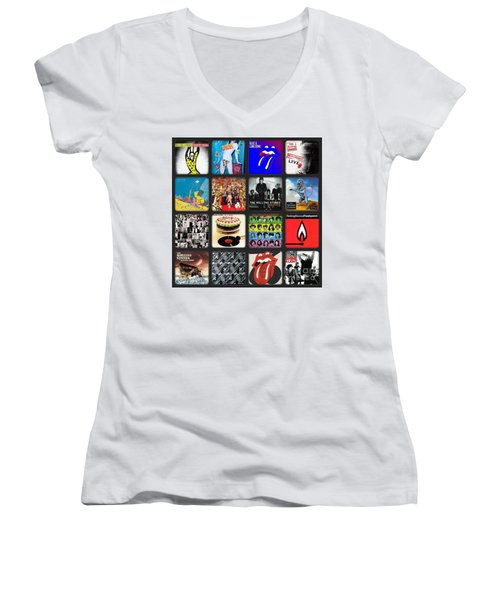 Ladies And Gentlmen The Rolling Stones Women's V-Neck (Athletic Fit)