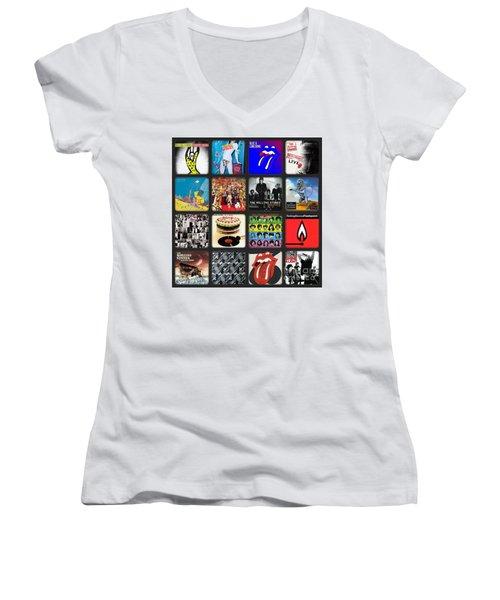 Ladies And Gentlmen The Rolling Stones Women's V-Neck T-Shirt