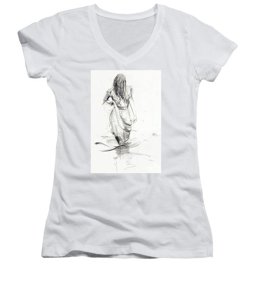 Lady In The Waters Women's V-Neck T-Shirt