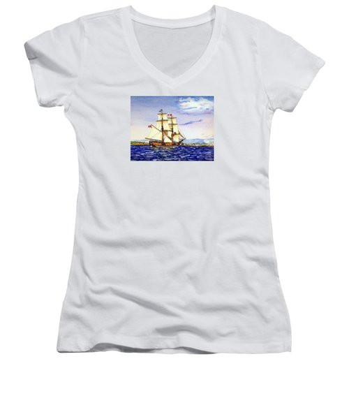 Lady Washington Women's V-Neck T-Shirt