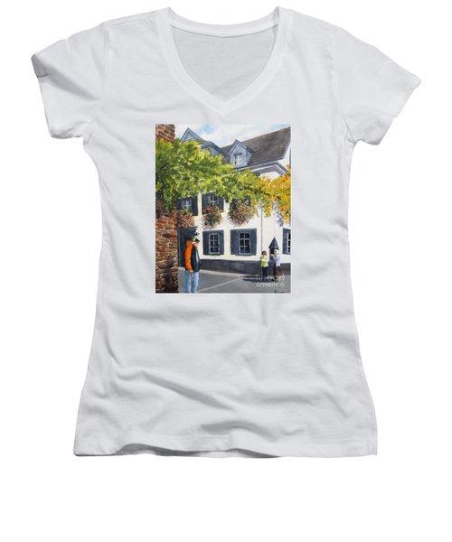 Lady's Man Women's V-Neck T-Shirt