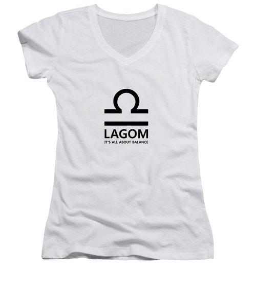 Lagom - Balance Women's V-Neck