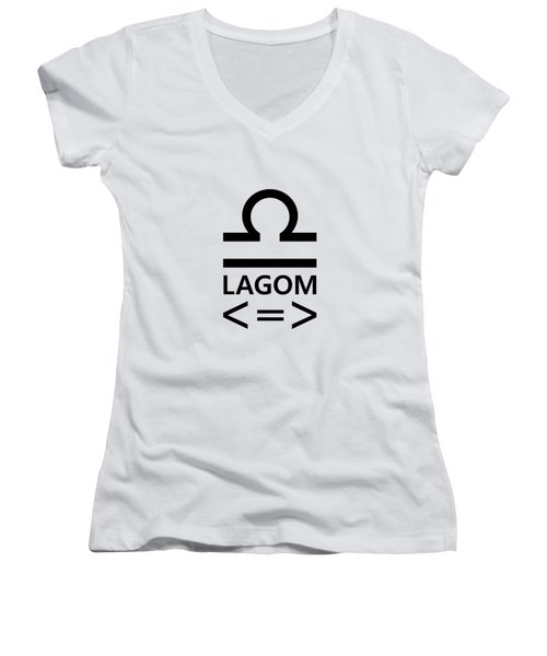 Lagom - Less Is More II Women's V-Neck