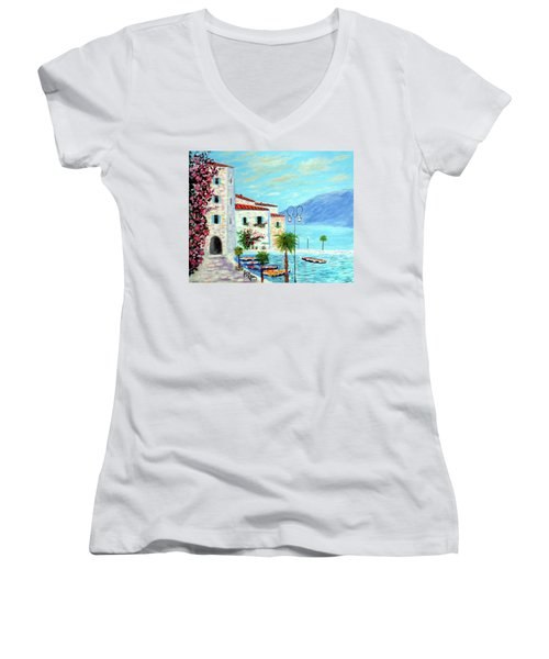 Lake Garda Bliss Women's V-Neck