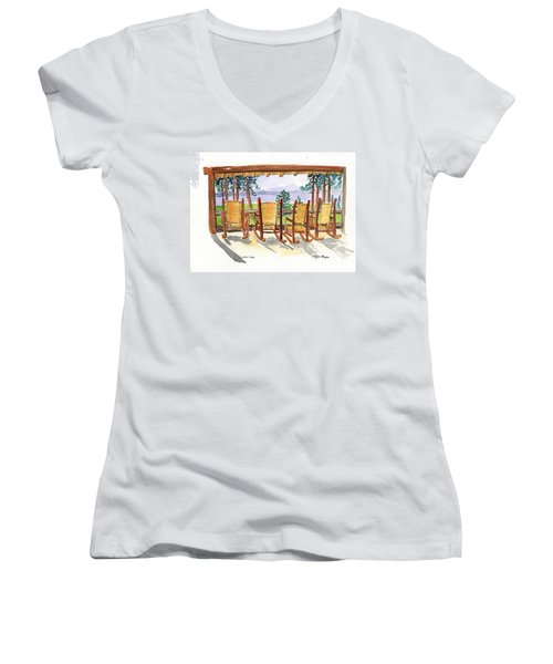Lake Lodge Women's V-Neck (Athletic Fit)
