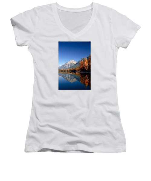 Lake Mcdonald Autumn Women's V-Neck (Athletic Fit)