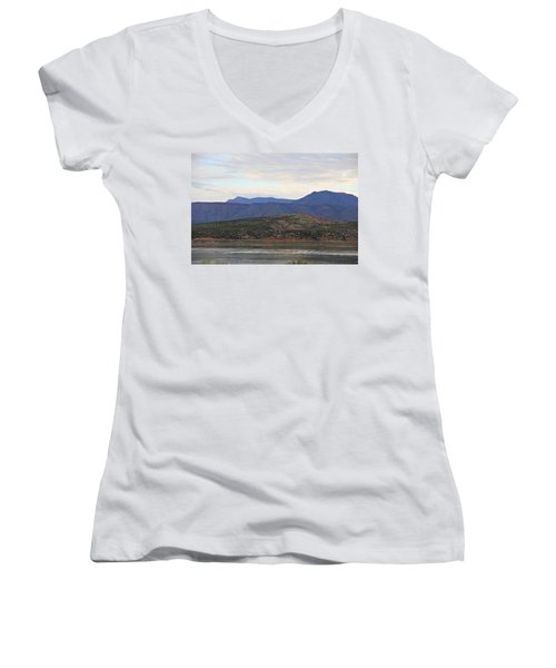Lake Roosevelt 1 Women's V-Neck (Athletic Fit)