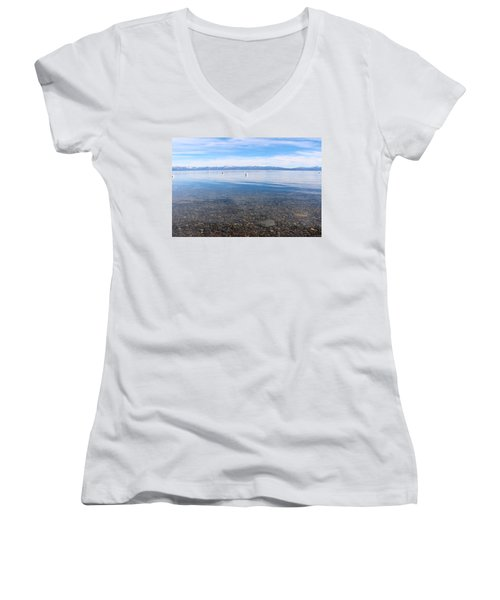 Lake Tahoe Women's V-Neck (Athletic Fit)