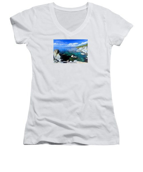Lake Tahoe Summer Treasure Women's V-Neck (Athletic Fit)