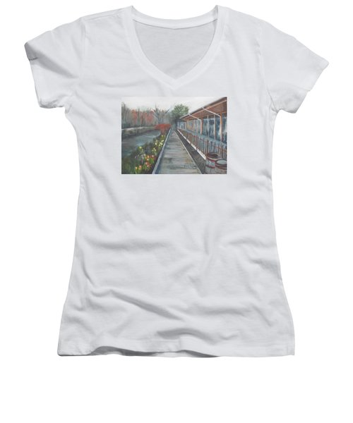 Lambertville Rr #1 Women's V-Neck T-Shirt