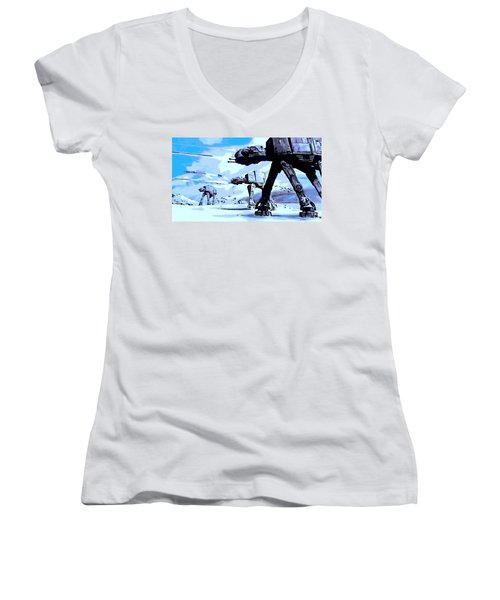 Land Battle Women's V-Neck T-Shirt