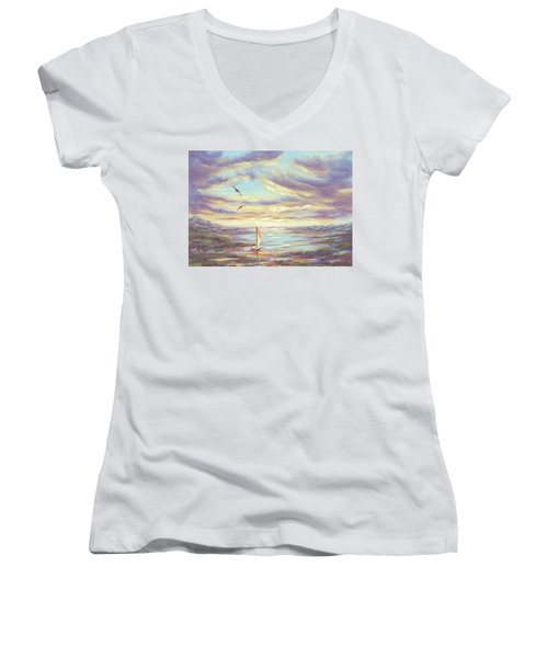 Land Escape Women's V-Neck T-Shirt
