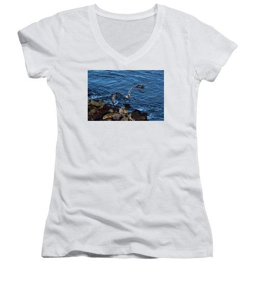 Landing Fly-by Women's V-Neck T-Shirt