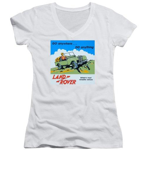 Landrover Advert - Go Anywhere.....do Anything Women's V-Neck