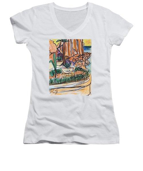 Lands End Women's V-Neck T-Shirt