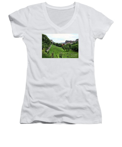 Landscape Edinburgh  Women's V-Neck