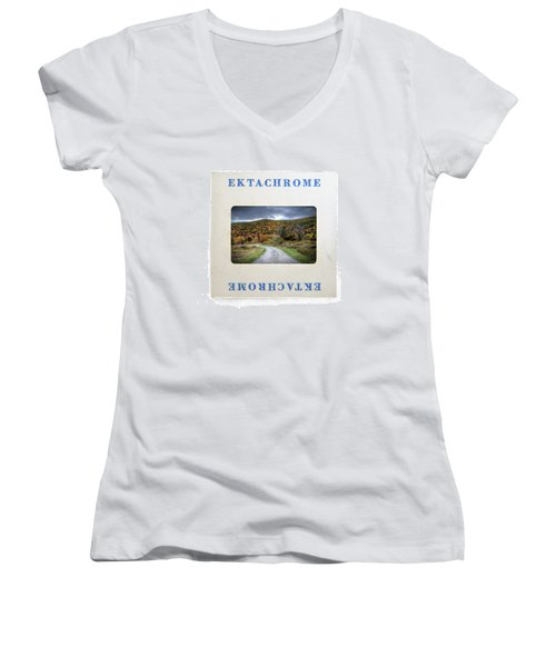 Landscape In Ektachrome Women's V-Neck (Athletic Fit)