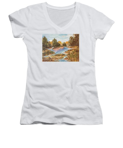 Landscape_1 Women's V-Neck T-Shirt