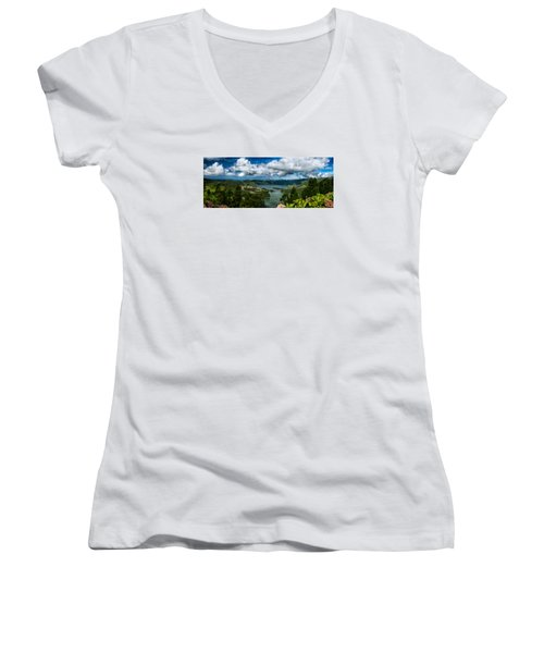 Landscapespanoramas015 Women's V-Neck (Athletic Fit)
