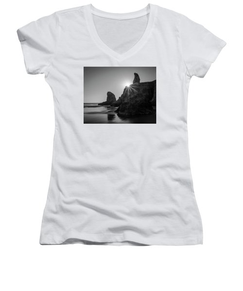Last Light On The Coast Women's V-Neck