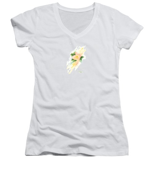Last Rose Of Summer Women's V-Neck