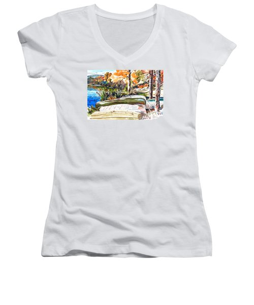 Last Summer In Brigadoon Women's V-Neck (Athletic Fit)
