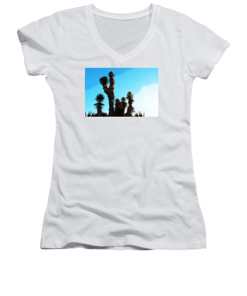 Late Afternoon Cactus Women's V-Neck