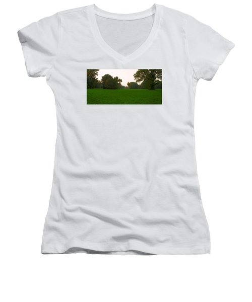 Late Afternoon In The Park Women's V-Neck